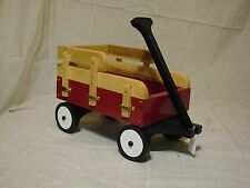 "Homemade Wooden Toy Wagon (intended for 18"" American Girl Doll)"