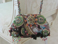 MARY FRANCES Browns-Greens Embellished Purse Excellent Condition PRICED TO SELL!