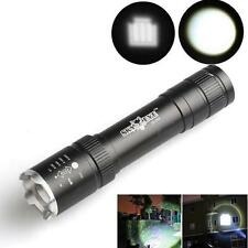 Protable Small 2500 Lumens Zoomable Flashlight Torch Lamp CREE XML T6 LED 18650