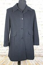 Worthington Women's Large Black Wool Blend Pea Coat L