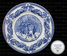 SPODE VICTORIAN CHILDREN PLATE COLLECTION SNOWBALL GAMES CHRISTMAS PLATE