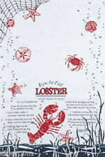 Kay Dee 100% Cotton Tea Towel 18x28 How to Eat Lobster Directions Gift NEW