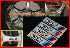 "4x 3"" 7.6cm SSR alloy side spoke wheel Decal Sticker Type C F JDM RS SP1 MS1 GTV"