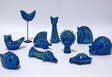 Bitossi set di miniature ALDO LONDI RIMINI Blue Bird Faccia Cavallo Cane Gatto ecc.