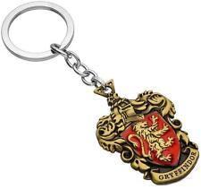 DZ1355 Hogwarts Wizarding Harry Potter school badge Keyring Keychain~Gryffindor