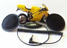 Tork X2 Motorcycle Motorbike Helmet Speakers headphones Stereo 3.5mm audio