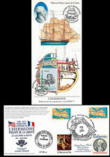 "Maximum card USA-FRANCE ""Stopover No. 4 in Yorktown - HERMIONE / LAFAYETTE"" 2015"