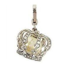 Juicy Couture Silver Crown Pearl Bracelet Charm Retired York JRU2481