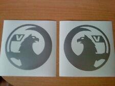 2 X Nuovo Stile Vauxhall VINILE Auto Adesivo logo grafica decalcomanie lunotto lato