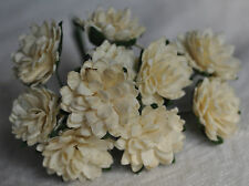 50 IVORY ASTER daisy Mulberry Paper flower wedding miniature cardmaking