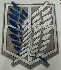 XL embroidered patch 22cm x 17cm Attack on Titan for Jacket or bag