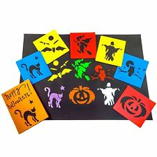 Halloween Stencils - X6 - Painting, Drawing, Washable, Plastic