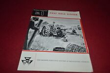 Massey Ferguson No. 1 Post Hole Digger Dealer's Brochure DCPA6