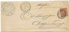 P8343   Piacenza, Cortemaggiore, annullo numerale a sbarre, 1888