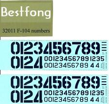 Bestfong Decals 1/32 LOCKHEED F-104 STARFIGHTER Chinese Air Force Blue Numbers