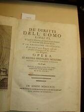 Nicola Spedalieri - De' diritti dell'uomo - 1791