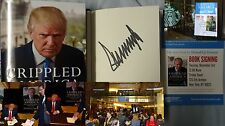 Signed Donald Trump Book Crippled America How To Make Great Again 1/1 HC Flyer
