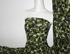 Camouflage Print Lycra/Spandex 4 way stretch Matt Finish Fabric