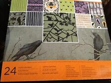 MARTHA STEWART DESIGNER PAPER CRAFT HALLOWEEN  BAT CROW  SPIDER WEB