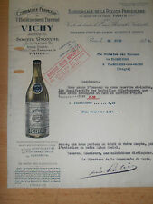 facture eau de Vichy 03 Allier  ( ref 17 )
