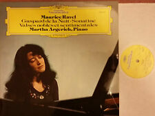 DG 2530 540 RAVEL Piano Music LP Martha Argerich NM