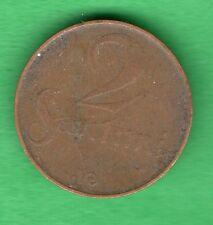 LATVIA LETTLAND 2 SANTIMI 1922 COIN 963
