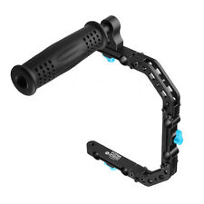 FOTGA DP3000 C-Shape Bracket Cage +Top Handle Grip Support For 15mm Rig Rod DSLR