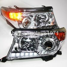 2008-2014 Year TOYOTA Land Cruiser LC200 FJ200 LED Head Lights Chrome Housing