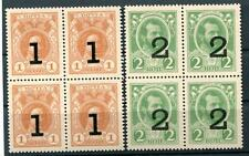 RUSSIA YR 1916,SC 112-13,MI 117-18,MNH, BLOCKS 4,ROMANOV'S PAPER MONEY