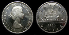 1963 Canada Silver Dollar Cameo High Grade Mint State Brilliant Uncirculated