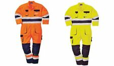 Portwest TX55 Texo Hi-Vis High Viz Coverall Overall Knee Pad Pockets FREE POST
