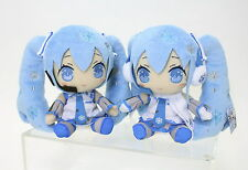 VOCALOID Snow Miku Plush Doll version 2010 & 2011 2pcs SET!
