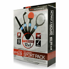 Flexfirm PS3 MOVE 12 IN 1 Two Player Sports Pack for Sony PS3 Move (BRAND NEW)
