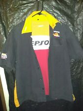 REPSOL MOTO HONDA SHIRT AND BUTTON DOWN 2 FOR 1 RACE JACKET VINTAGE