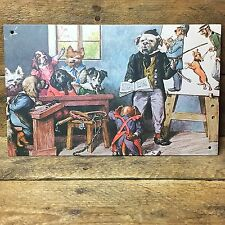 """Dogs in the Courtroom Decorative Tin Sign - 6"""" x 9"""" Ohio Wholesale"""