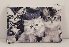 Cute Kittens (Cats) Fabric Handmade Zippy Coin Purse Storage Pouch