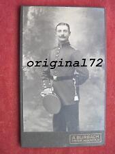 Original Foto Offizier der Infanterie mit Bajonett