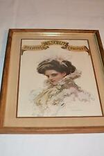1983 Reproduction Antique Vtg  PRINT Modern Picture FRAME OLYMPIA BEER Brewing