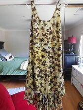 NWT Anthropologie Leifsdottir Butterfly Petals Silk Dress Sz.8 Yellow NEW $268