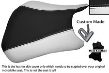 BLACK & WHITE CUSTOM FITS HONDA CBR 600 RR5 RR6 05-06 FRONT LEATHER SEAT COVER