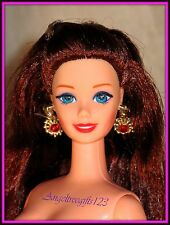 Nude Barbie Long Red hair Blue eyes rooted lashes superstar face sculpt