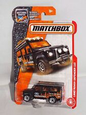 Matchbox 2017 MBX Heroic Rescue Series #84 Land Rover Defender 110 Black