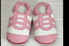 ShooShoos - Sport Shoes - White With Pink Stripes 0-6M