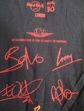 Hard Rock Cafe London Black Short Sleeve U2 Bono Tee Shirt Size Medium Large