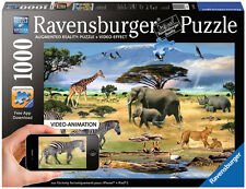 ANIMALS OF AFRICA 1000 Pc Video Animation Puzzle  Scenic  Ravensburger