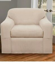 Maytex Stretch Reeves 2-Piece Slipcover Chair, Natural