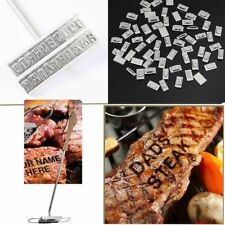 BBQ BURGER BRANDING IRON & 55 CHANGABLE LETTERS BARBECUE NAMES TOOL STEAK