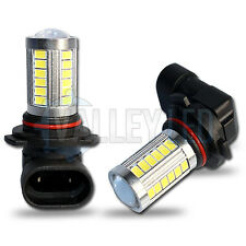 Corsa D 06-on Bright LED Front Fog Light H10 31w 33 SMD lens White Bulbs