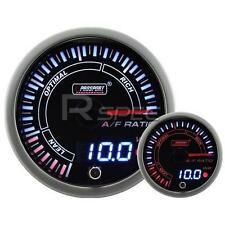 60mm JDM Smoked Style Air Fuel Ratio AFR Dual Stepper Motor Gauge with warning