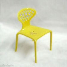 1/6 Bjd Momoko Blythe Hujoo Berry Yomi Doll Miniature Mini Fashion Chair Yellow